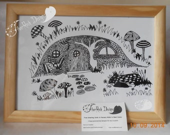 Fairy Hole- Hand Drawn Tangle Style Picture