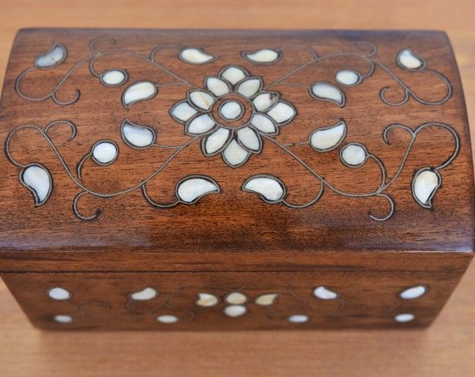 Jewelry Box, Wood Box, Wooden box, jewelry storage, Multipurpose Storage Wooden Box, Syrian Mosaic, Marquetry box, inlay, wooden home decor