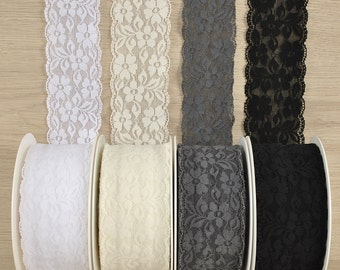 Elastic lace 60 mm in different colours