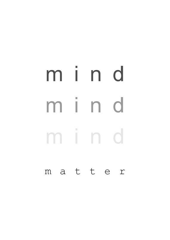 Mind Over Malls Or Does Academia Hate Fashion: Mind Over Matter Printable Poster By KinleyGraphics On Etsy