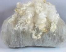 Wool Batt - So Sheepy #129 Merino, Angora, Cashmere, Yak, Southdown, Teeswater, Wool Nepps, Silk Noil and Teeswater Locks.