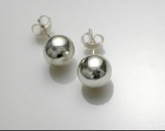 Sterling Silver 'Ball'  Stud Earrings