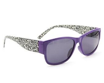 Leopard Purple Sunglasses Wayfarer Style Unique Glasses S007