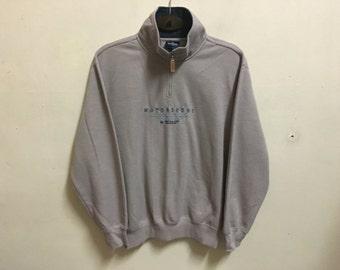 Vintage 90's Dunlop Sport Classic Design Skate Sweat Shirt Sweater Varsity Jacket Size M #A488