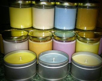 Scented Candles 100% Soy Wax