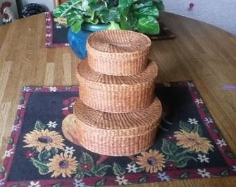Vintage Japanese Nesting Baskets