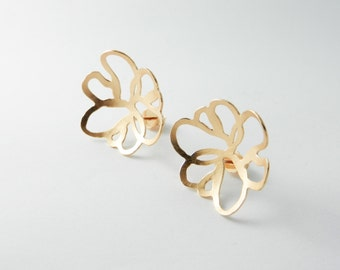 Gold plated earrings 925 / - sterling silver with 750 / - red gold