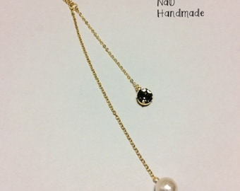 Swarovski and Pearl long necklace to choose