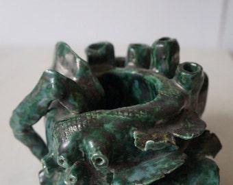 Coral/Marine Handmade Pot