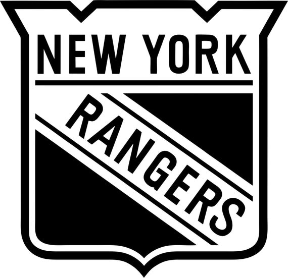 New york rangers logo coloring pages ~ New York Rangers logo single color second by ...