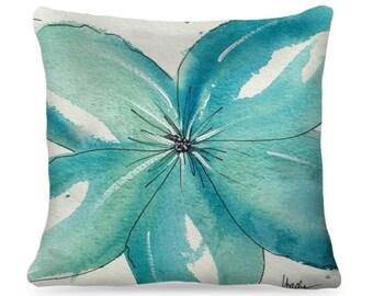 "Designer Watercolor Pillow ""Deborah"" Home Decor"