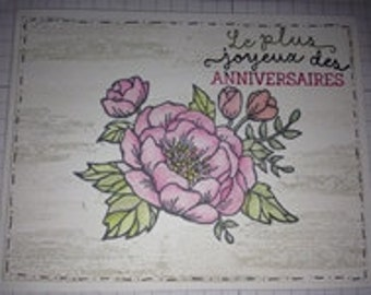 Birthday card (flower)