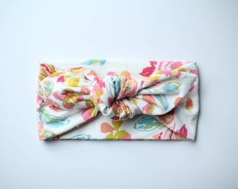 Marigold Floral Topknot // Knotted Headband // Baby // Toddler // Child // One Size Fits Most // Turban // Bow Head Wrap //