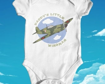 Daddy's Little Wingman baby bodysuit | baby shower gift | cute baby clothes | newborn baby clothes | funny baby bodysuit | soldier baby