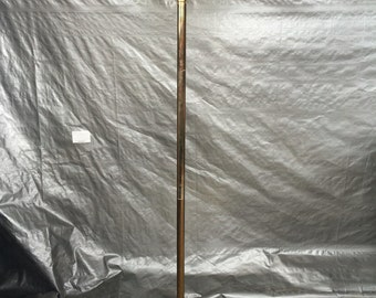 Hollywood Regency Brass Floor Lamp with Large Shade.