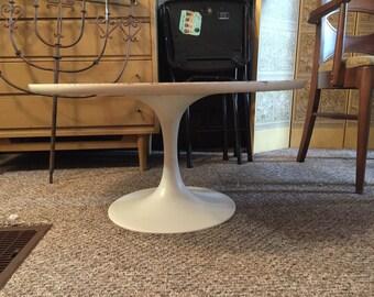 Saarinen Style Tulip Side Table or Small Coffee Table