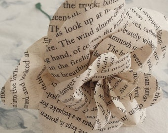 Handmade Book Page Flower