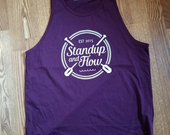 Men's Large Cranberry Tank - Standup and Flow