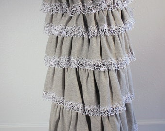 Grey Ruffle Skirt