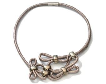 unique leather necklace