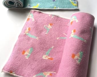Yoga towel, yoga gift, namaste yoga gift, yoga poses Illustration, woman gym towel, travel towel, workout towel, Lilac