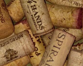 Variety of 50 Used Wine Corks
