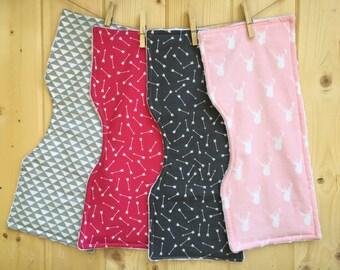 Baby Burp Cloth -set of 4 Woodland Geometric