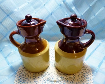 Vintage Vinegar & Oil Cruet Set