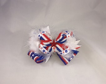 Fourth of July boutique bow