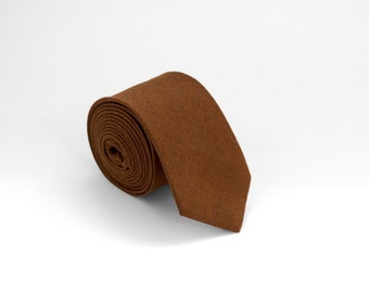 Brown Linen Tie,  Mens Necktie, Brown Necktie, Mens Gifts, Gift Ideas