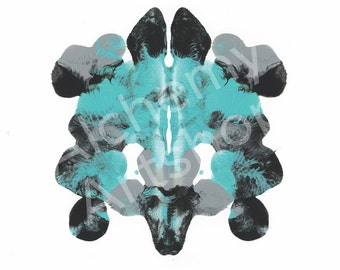 Rorschach 2, Original Art Print, Abstract, Ink Blot, 5x7, 8x10 and 11x14