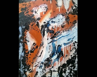 Contemporary Abstract Expressionism Painting --FREE SHIPPING --