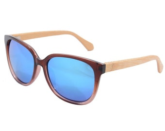 Blue Glasses bamboo sunglasses