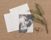 The Willow Wedding Collection by Paper Daisies, Save the Date, Rustic, SAMPLE SET