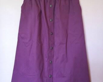 Vintage Knee Length Maroon Skirt