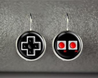 Game controller earrings, Joystick earrings, Game controller jewelry