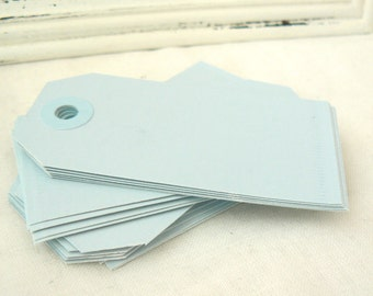 25 Paper Tags Pastel Blue Hang Tags, Light Blue Gift Tags, Coloured Tags, Parcel Tags