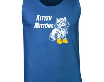 Kitten Mittons funny tv show sunny cat lover college party vintage retro - Apparel Clothing - Tank Top - 037