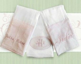 Girl Burp Cloth Set