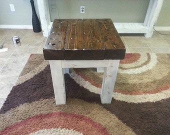Beautiful Rustic End Table