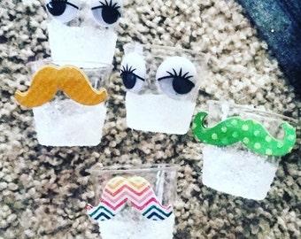 Mini lashes or staches glasses 20 set