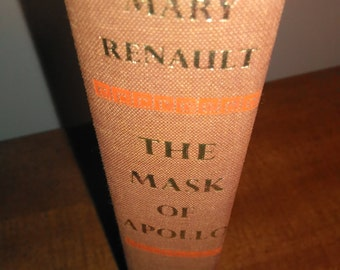 1966 First Edition Mary Renault The Mask of Apollo Vintage Book