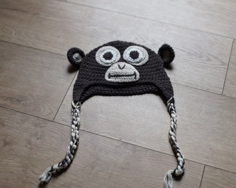 RTS Brown monkey hat - sitters size