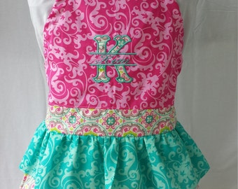 Ruffled Apron (shown with split  applique)