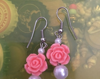Blush Rose Earrings