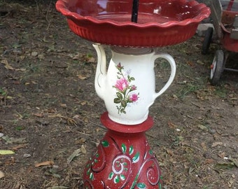 Garden rose bird feeder