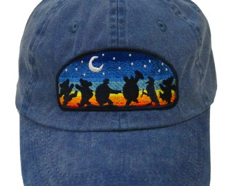 Grateful Dead Hat- Moondance Embroidered Baseball Cap / hat /Dead and Company/ Dancing Bears / Terrapin Turtles