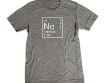Nebraska Shirt - Inspired by the Periodic Table of Elements