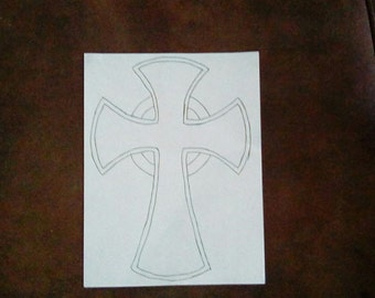 Celtic cross with halo for kids