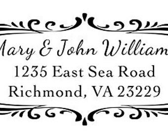 Designer Address Stamp Style-3 Trodat 4912 Self Inking Stamp Custom Return Address Stamp, Rubber Stamp, Wedding Stamp, Ink Stamp